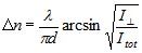 birefringence equation